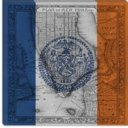 iCanvas Flags New York Vintage Map Graphic Art on Canvas; 26'' H x 26'' W x 1.5'' D
