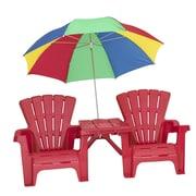 American Plastic Toys Kid's Adirondack Chair Set