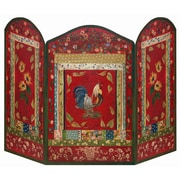 Stupell Industries Red Rooster 3 Panel MDF Fireplace Screen