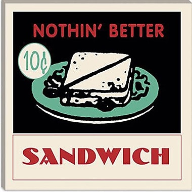 iCanvas Sandwich Vintage Advertisement on Wrapped Canvas; 26'' H x 26'' W x 1.5'' D