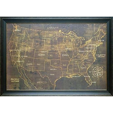 North American Art 'The United States' by Luke Wilson Framed Graphic Art