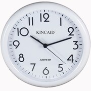 Kincaid Clocks 10'' Always Set Wall Clock; White
