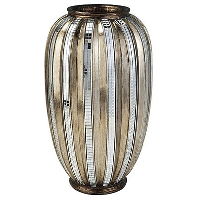 ORE Furniture Metallic Tiles Decorative Vase WYF078276499989