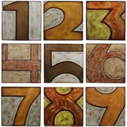 Privilege 9 Piece Wood Numbered Textual Art Set