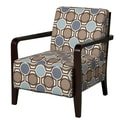 Powell Bentwood Fabric Arm Chair