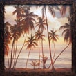 North American Art Palms on the Water I by John Seba Framed Photographic Print