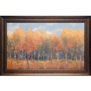 North American Art 'Violet Landscape' by Carmen Dolce Framed Painting Print