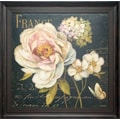 North American Art Marche de Fleurs on Black Wall Art