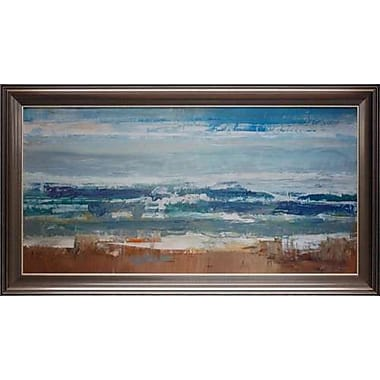 North American Art 'Pastel Waves' by Peter Colbert Framed Painting Print