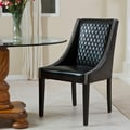 Home Loft Concept Chandler Quilted Leather Chair (Single); Black