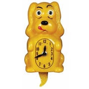 Animated Clocks Pooch Clocker Spaniel Yellow Wall Clock