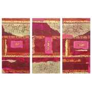 Oriental Furniture Avant-Garde 3 Piece Graphic Art on Wrapped Canvas Set