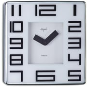 Opal Luxury Time Products Stainless Steel Square Case Wall Clock; White