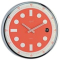 Opal Luxury Time Products 12'' Stainless Steel Round Case Wall Clock
