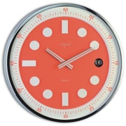 Opal Luxury Time Products Stainless Steel Round Case Wall Clock