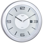 Opal Luxury Time Products 16'' Stainless Steel Round Case Wall Clock