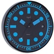 Opal Luxury Time Products 12'' Stainless Steel Powder Coated Round Case Wall Clock