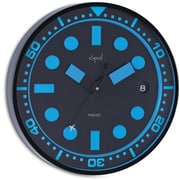 Opal Luxury Time Products Stainless Steel Powder Coated Round Case Wall Clock