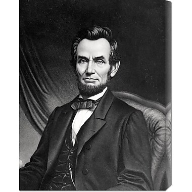 Global Gallery 'Abraham Lincoln' Painting Print on Wrapped Canvas