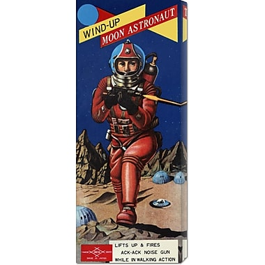 Global Gallery 'Wind-Up Moon Astronaut' by Retrobot Vintage Advertisement on Wrapped Canvas