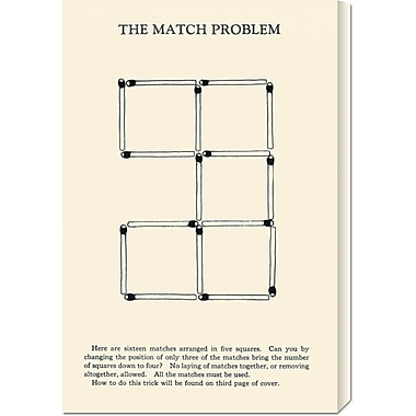Global Gallery 'The Match Problem' by Retromagic Vintage Advertisement on Wrapped Canvas