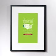 Checkerboard Personalized Home Sweet California Framed Graphic Art; Green