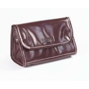 Clava Leather Wellie Cosmetic Pouch; Brown