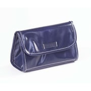 Clava Leather Wellie Cosmetic Pouch; Navy