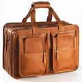Clava Leather Vachetta Flight Boarding Tote; Tan
