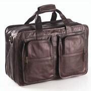 Clava Leather Vachetta Flight Boarding Tote; Caf