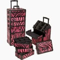 Seya 4-1 Rolling Makeup Case; Pink Zebra