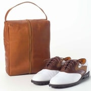 Clava Leather Vachetta Golf Shoe Bag; Vachetta Tan