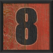 The Artwork Factory Number Eight Framed Textual Art