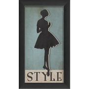 The Artwork Factory Style Silhouette Small Framed Graphic Art