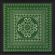 The Artwork Factory Tile 3 Framed Graphic Art; Green