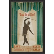 The Artwork Factory Vaudeville Framed Vintage Advertisement