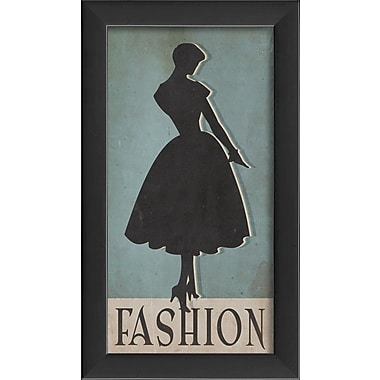 The Artwork Factory Fashion Silhouette Large Framed Graphic Art