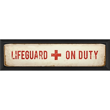 The Artwork Factory Lifeguard on Duty II Framed Textual Art