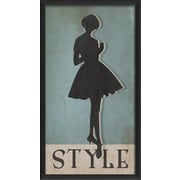 The Artwork Factory Style Silhouette Large Framed Graphic Art