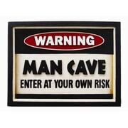 RAM Game Room Framed Vintage Advertisement; Warning Man Cave