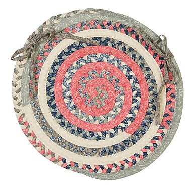 Colonial Mills Print Party Rects Dining Chair Cushion; Crushed Coral