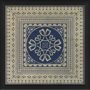 The Artwork Factory Tile 7 Framed Graphic Art; Blue
