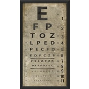 The Artwork Factory Eye Chart Framed Textual Art; White