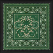 The Artwork Factory Tile 4 Framed Graphic Art; Green