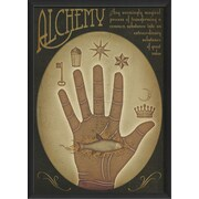 The Artwork Factory Alchemy Hand Framed Graphic Art; Red