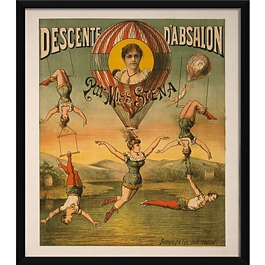 The Artwork Factory Descente D'Absalon Framed Vintage Advertisement