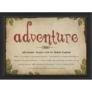 The Artwork Factory Adventure Definition Framed Textual Art