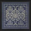 Blueprint Artwork Tile 1 Framed Graphic Art; Blue
