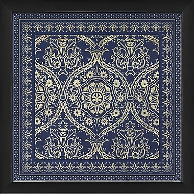 The Artwork Factory Tile 1 Framed Graphic Art; Blue