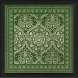 Blueprint Artwork Tile 1 Framed Graphic Art; Green